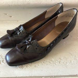 Vintage Brown Tassel Loafers